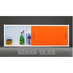 Экран под ванну раздвижной с полочкой Francesca Premium 1.5,1.7,1.8 оранжевый (Антискользящее Основание)