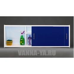 Экран под ванну раздвижной с полочкой Francesca Premium 1.5,1.7,1.8 синий (Антискользящее Основание)