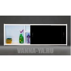 Экран под ванну раздвижной с полочкой Francesca Premium 1.5,1.7,1.8 чёрный (Антискользящее Основание)