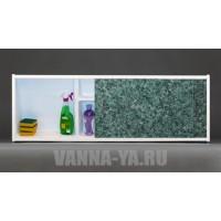 Экран под ванну раздвижной с полочкой Francesca Premium 1.5,1.7,1.8 малахит (Антискользящее Основание)