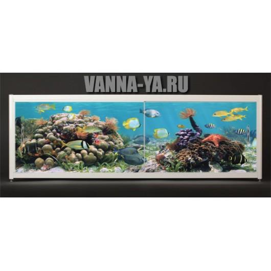 Экран под ванну Francesca Elite Подводное царство 140-180 см (Антискользящее Основание)