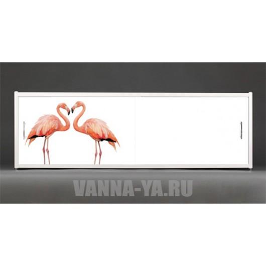 Фотоэкран под ванну Francesca Premium Фламинго 150/170/180 см (Антискользящее Основание)