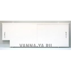 Экран под ванну раздвижной Francesca Luxe Q 1.5,1.7,1.8 белый (Антискользящее Основание)
