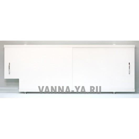Экран под ванну раздвижной Francesca Luxe Q 1.5,1.7,1.8 белый от 59 см (Антискользящее Основание)