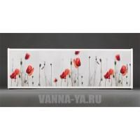 Фотоэкран под ванну Francesca Premium Красные маки 150/170/180 см (Антискользящее Основание)
