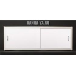 Экран под ванну раздвижной на роликах Francesca Elite 140 - 180 см белый (Антискользящее Основание)