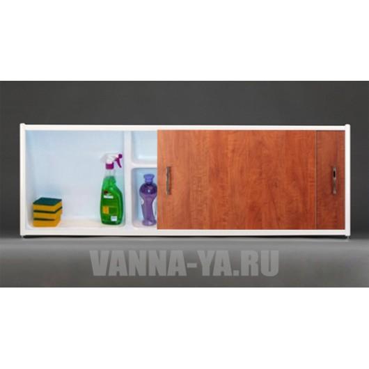 Экран под ванну раздвижной с полочкой Francesca Premium 1.5,1.7,1.8 дерево (Антискользящее Основание)