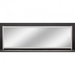 Зеркальный экран под ванну раздвижной Francesca Premium 150/170/180 (Антискользящее Основание)