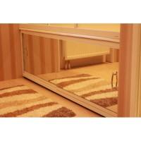Экран под ванну зеркальный раздвижной Francesca Elite на роликах 140 - 180 см (Антискользящее Основание)