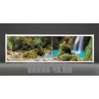 Фотоэкран под ванну Francesca Premium Водопад в лесу 150/170/180 см (Антискользящее Основание)