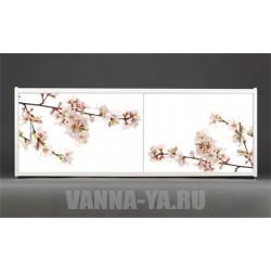 Фотоэкран под ванну Francesca Premium Цветение сакуры 150/170/180 см (Антискользящее Основание)