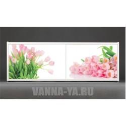 Фотоэкран под ванну Francesca Premium Тюльпаны 150/170/180 см (Антискользящее Основание)