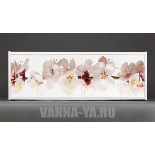 Фотоэкран под ванну Francesca Premium Японская сакура 150/170/180 см (Антискользящее Основание)