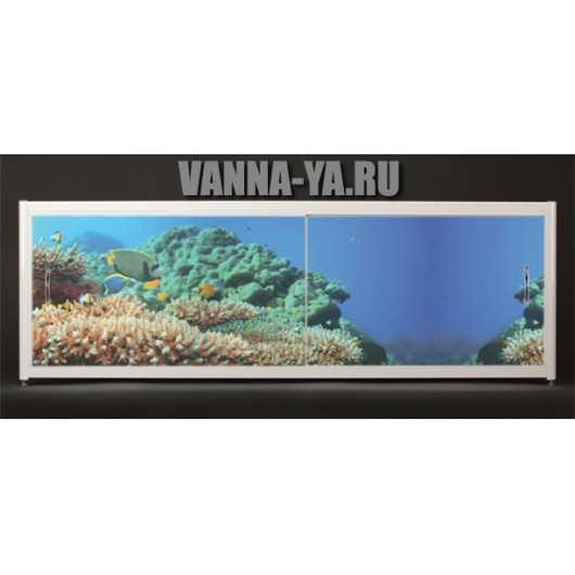 Экран под ванну Francesca Elite Морское дно 140-180 см (Антискользящее Основание)