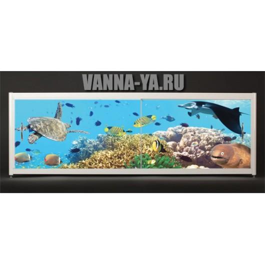 Экран под ванну Francesca Elite Обитатели глубин 140-180 см (Антискользящее Основание)