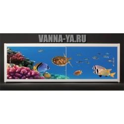 Экран под ванну Francesca Elite Подводные просторы 140-180 см (Антискользящее Основание)