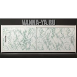 Экран под ванну салатовый мрамор Francesca Elite 140-180 см (Антискользящее Основание)