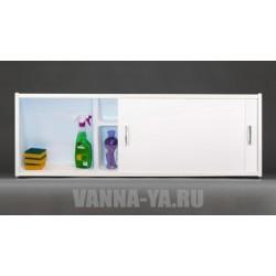 Экран под ванну раздвижной с полочками Francesca Premium 1.5,1.7 белый для ванн от 58 см