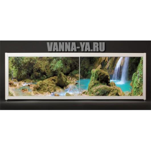 Экран под ванну Francesca Elite Водопад в лесу 140-180 см (Антискользящее Основание)