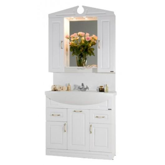 Комплект мебели для ванной комнаты Капри 90 с бельевой корзиной