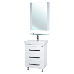 Комплект мебели Bellezza Рокко 60 напольная белая