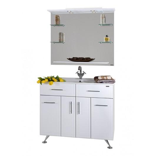 Комплект мебели для ванных комнат Ницца D 100 с бельевой корзиной