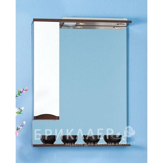 Зеркало-шкаф Бриклаер Токио 70 L венге, белый глянец