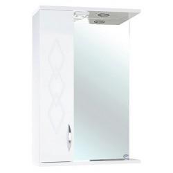 Зеркало-шкаф Bellezza Элеганс 50 L белый