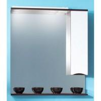 Зеркало-шкаф Бриклаер Токио 80 R венге, белый глянец