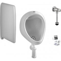 Комплект  Писсуар Jika Korint 4410.0 подвесной, с внешним подводом воды + Смывное устройство для писсуаров AlcaPlast ATS001 кнопочный вентиль + Монтажный набор