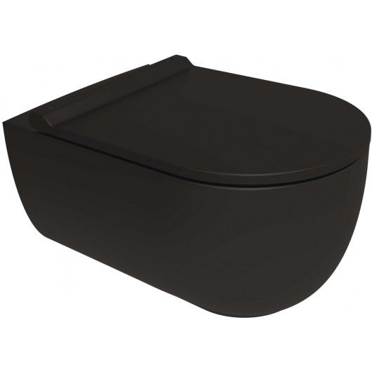 Унитаз подвесной Bien Vokha MDKA052N1VP0B7000 безободковый, черный матовый