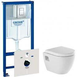 Комплект  Система инсталляции для унитазов Grohe Rapid SL 38775001 4 в 1 с кнопкой смыва + Унитаз подвесной Sanindusa Sanibold 137932 с микролифтом